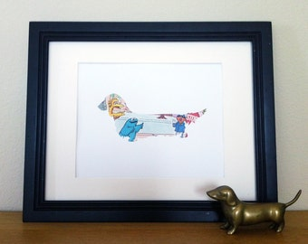 Sesame Street Series 7- Long Haired Dachshund Silhouette