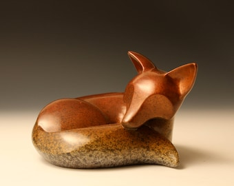 laying kit  bronze sculpture limited edition #48