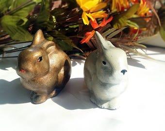 Bronze Сeramiс Ostern Hase Figur, 3D Dekor, Kinderzimmer Dekor. Tier. Сeramic Skulptur, Home Design. Hase. Hase