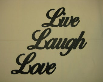 Live Laugh Love Metal Wall Word Set