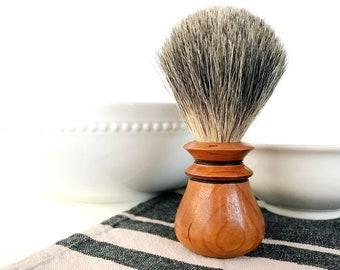 Cherry Shaving Brush; Gifts for Him; Wet Shave; Beard; Graduation Gift; Groomsmen Gift