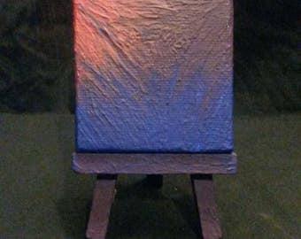 Mini blacklight painting