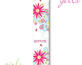 Girls Personalized Growth Chart