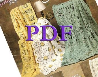 PDF - Crochet Pineapple Afghans, 1998, 6 designs