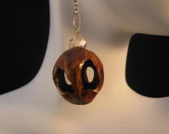 Natural Black Walnut Gemstone Earrings,dangle earrings,drop earrings,citrine earrings,gold earrings,walnut earrings,black walnut earrings
