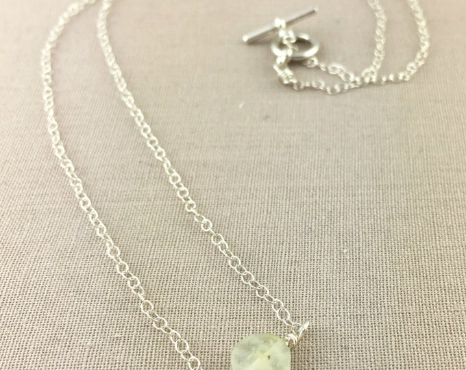 Delicate Prehnite Necklace