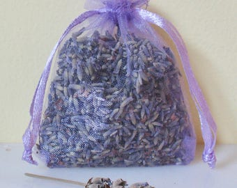 Purple French LAVENDER Sachet Buds Organza Dry Flower Potpuri Fragrant Natural Deodorizer Gift Home Decor