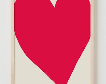 Fine Art Print. Red Heart. February 1, 2012.