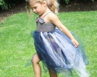 "Tutu Crochet Dress Pattern: Flower Girl dress, Party Dress for Toddlers, ""Robin Dress"""