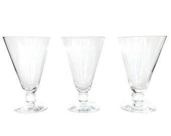 SALE! Kosta Boda, Swedish Water Glasses, Kuba, Elis Bergh, Cube Stem