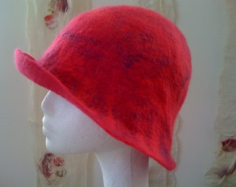 Soft Merino Wool Felted Cloche Hat - Made to Order