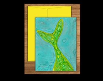 Mermaid Tail Greeting Card, Mermaid Cards, Blank Greeting Cards, Blank Cards, Blank Note Cards, Note Cards, Mermaids, Mermaid Tail, Notecard