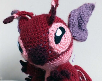 Crochet Red Creature inspired by Leroy & Stitch! (Pattern only)