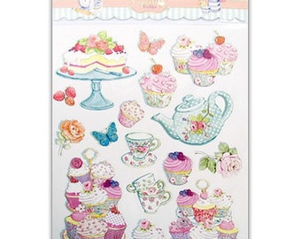 "Stickers ""Cupcakes"" embellishment scrapbooking cardmaking 2 (ref.110). *."