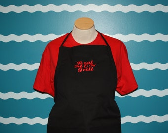 Grilling Apron - Embroidered apron - embroidered gill apron - Real Men Grill - Custom Apron - Custom Gift - gift for him - father's day gift