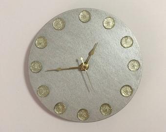 """Rhinestones Wall Clock, 6"""" diameter"""