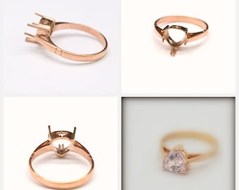 handmade ring, promise ring, 14k gold, anniversary ring. The listing is for the setting only P-031
