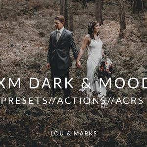 Dark And Moody Lightroom Presets & Photoshop Actions, ACRs for Moody Portrait and Modern Wedding Edits in Adobe Lightroom Photoshop