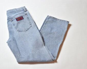 Vintage Blue Wrangler Faded Denim Jeans