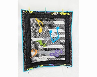 Punk Rocker Rainbow Baby Crib Quilt