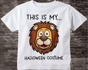 Lion Halloween Costume Shirt with cute Lion head and the words This Is My Halloween Costume 09242017a