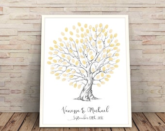 personalised wedding fingerprint tree, Heart shaped wedding tree, fingerprint tree, customised wedding guestbook, guest book wedding art