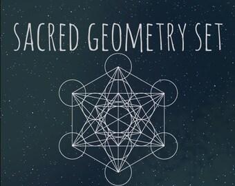 Sacred Geometry Vector/PNG Set (10 Shapes)