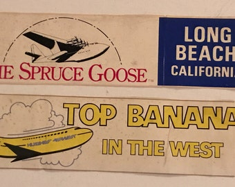 Vintage Hughes Airwest and Spruce Goose Bumper Stickers