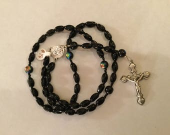 Black oblong Rosary