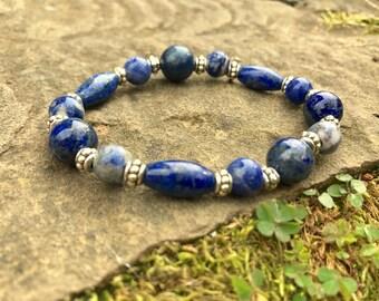 Lapis Lazuli and Sodalite Bracelet