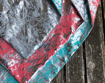 Metallic reversible standard tie up bandana