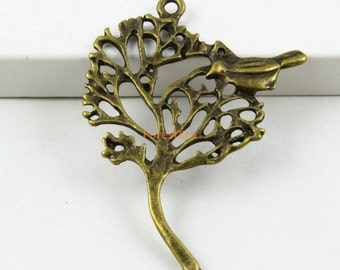 20Pcs Antique Brass Tree Charm Tree Pendant 32x40mm (PND579)