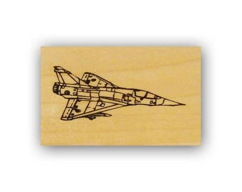 Fighter Jet Mounted rubber stamp, USAF, Air Force, military plane, aviation, Crazy Mountain Stamps #4