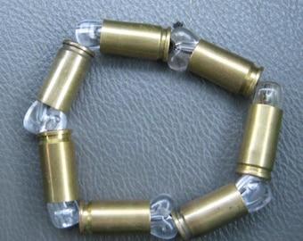 Recycled 9mm Caliber REAL Bullet Casings Bracelet Brass Jewlery