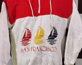 Vintage 80s San Francisco Sailboat sweatshirt Multicolour S USA