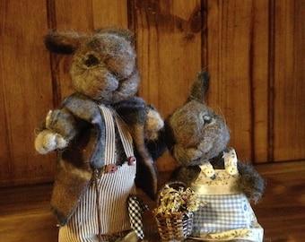 needle felted rabbit, needle felted bunny, needle felted animal, needle felted Waldorf, alpaca wool animal