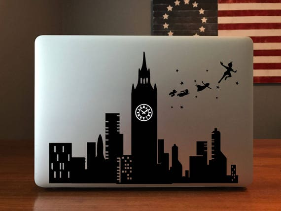 Peter Pan London Skyline MacBook Decal