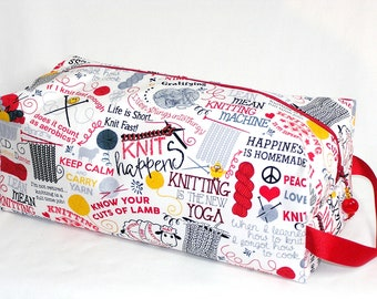 Knitting Sayings Sweater Bag