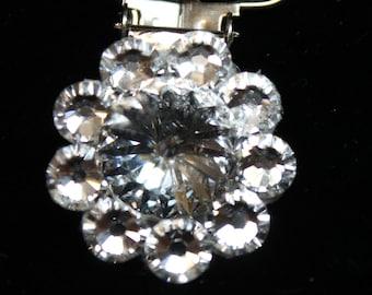 Irish Dance Card Clip - Clear Swarovski crystals