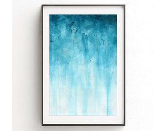 XXL 20 x 30 print digital download printable wall decor blue white print abstract print modern art home decor contemporary artwork