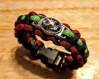 Luke and Vader Conflict Paracord Bracelet, keychain or Set