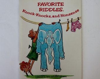 1980 Favorite Riddles, Knock-Knocks, and Nonsense (Paperback- Scholastic Books)