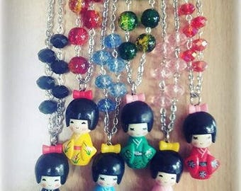 Necklace with Kokeshi Pendant