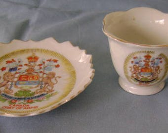 Miniature Souvenir Teacup and Saucer, Canada