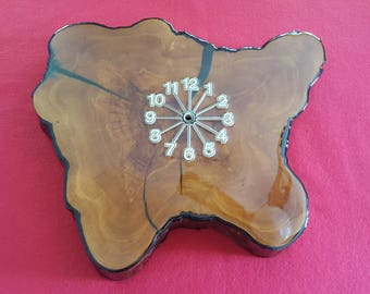 Cypress Wood Clock