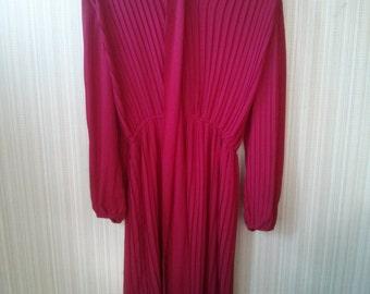 ON SALE Original price 25.99 - Vintage Red Chiffon 70's  dress
