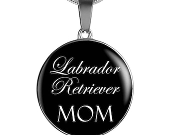Black Lab, Black Labrador, Labrador Retriever Mom - Luxury Necklace