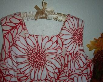 Plus Size Hawaiian Dress Vintage Barkcloth Sundress xxl