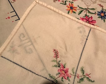 Hand Embroidered Cotton Tablecloth