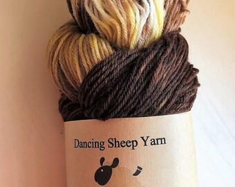 Sock yarn 'Naughty Tortie' 100% superwash Polwarth